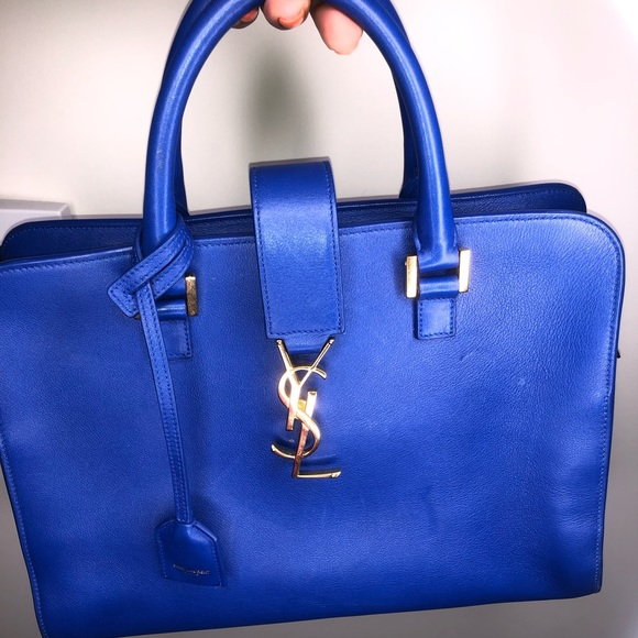 19a61716d40 Yves Saint Laurent Bags | Gently Used Ysl Leather Monogram Cabas ...